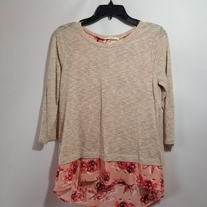 NWT Le Lis stitch fix french Terry floral top